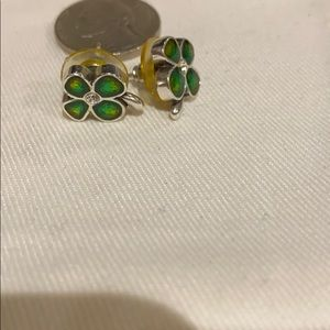 Brighton 4 leaf clover earring studs
